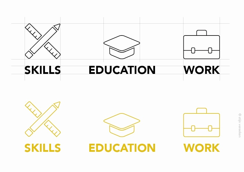 3y design education icon icons resume set skills work - Icons For Resume